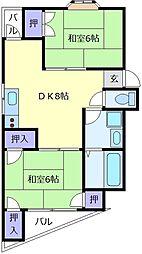 ハイツ関西ファーマシー[4階]の間取り
