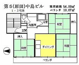 中島第5ビル[401号室]の間取り