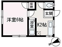 埼玉県和光市下新倉1丁目の賃貸アパートの間取り