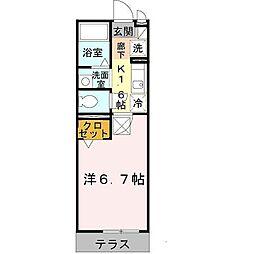 セジュール西代I[2階]の間取り
