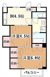 エスポワールM&Y[2階]の間取り