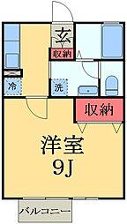 千葉県市原市山田橋の賃貸アパートの間取り
