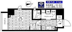 都営大江戸線 新御徒町駅 徒歩5分の賃貸マンション 7階1Kの間取り