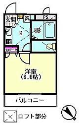 シティライブ東六郷[202号室]の間取り