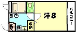 東京都八王子市明神町2丁目の賃貸マンションの間取り