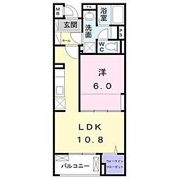 JR中央線 八王子駅 バス19分 宇津木下車 徒歩8分の賃貸マンション 3階1LDKの間取り