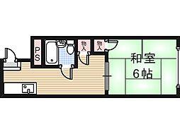 大阪府大阪市住吉区我孫子東3丁目の賃貸マンションの間取り