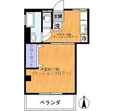 東京都杉並区久我山2丁目の賃貸マンションの間取り