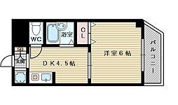 大阪府大阪市東淀川区小松2の賃貸マンションの間取り
