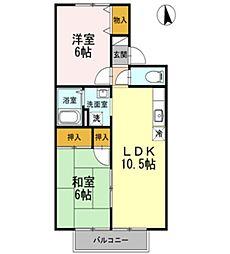 セレーノ岡本 A[2階]の間取り