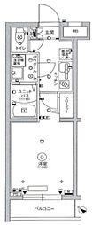 スカイコートパレス駒沢大学II 1階1Kの間取り
