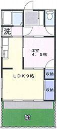 第一佳住荘 1階1LDKの間取り
