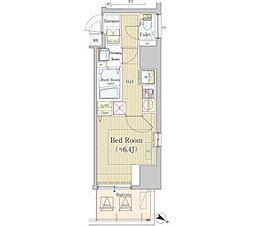 東京メトロ半蔵門線 神保町駅 徒歩4分の賃貸マンション 8階1Kの間取り