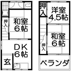 [一戸建] 大阪府枚方市山之上1丁目 の賃貸【/】の間取り