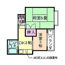 大阪府豊中市長興寺南3丁目の賃貸マンションの間取り