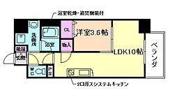 アーバネックス堂島[11階]の間取り
