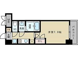 W-STYLE新大阪II[2階]の間取り