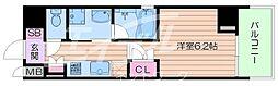 Osaka Metro堺筋線 長堀橋駅 徒歩5分の賃貸マンション 3階1Kの間取り