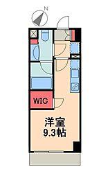 東京メトロ有楽町線 月島駅 徒歩4分の賃貸マンション 6階1Kの間取り