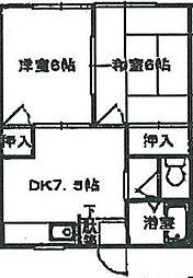 キャッスル川鶴[2階]の間取り