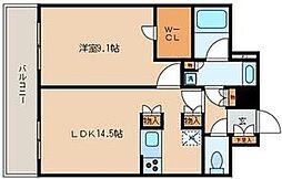 ナーベルお茶の水[13階]の間取り