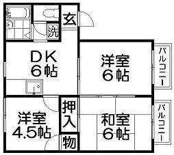 レジデンスジョイ1[1階]の間取り