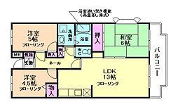 エスポワールK15[5階]の間取り