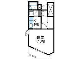 神奈川県座間市緑ケ丘4丁目の賃貸マンションの間取り