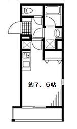 MDM世田谷代田 2階ワンルームの間取り