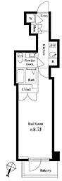 JR山手線 神田駅 徒歩6分の賃貸マンション 5階1Kの間取り