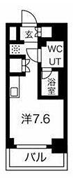 クラリッサ横浜フロード 2階ワンルームの間取り