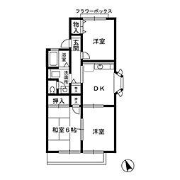 クレールシャトー[1階]の間取り