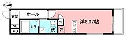 (仮)府中市若松町二丁目新築計画 2階ワンルームの間取り
