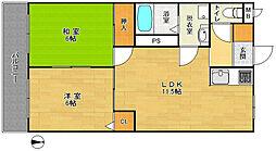 スターマンション 3階2LDKの間取り