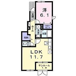 サンシャイン・ヤマトA[1階]の間取り