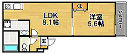 Osaka Metro今里筋線 瑞光四丁目駅 徒歩6分の賃貸アパート 1階1LDKの間取り