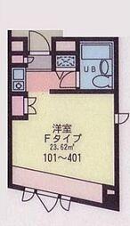 東京都葛飾区青戸2丁目の賃貸マンションの間取り