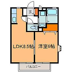 サニーモール[1階]の間取り