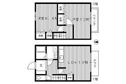 [テラスハウス] 東京都練馬区春日町1丁目 の賃貸【/】の間取り