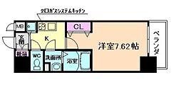 Luxe天神橋[9階]の間取り