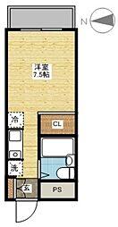 長崎県長崎市花丘町の賃貸マンションの間取り