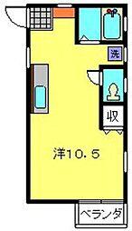 神奈川県横浜市磯子区丸山1丁目の賃貸アパートの間取り