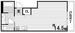 A-EAST新長田[3階]の間取り