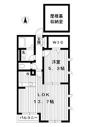 東京都練馬区高松3丁目の賃貸アパートの間取り