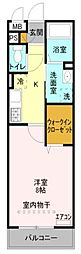 東武伊勢崎線 蒲生駅 徒歩7分の賃貸アパート 1階1Kの間取り