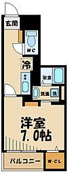 京王線 聖蹟桜ヶ丘駅 徒歩11分の賃貸マンション 1階1Kの間取り