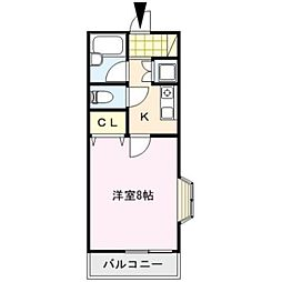 LE CONFORT[201号室]の間取り