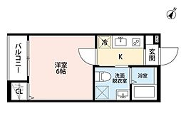 Red Wing(レッド ウィング)[1階]の間取り