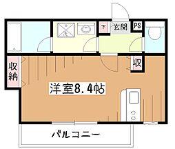 東京都東村山市廻田町1丁目の賃貸マンションの間取り