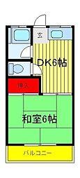 コーポ藤枝[2階]の間取り